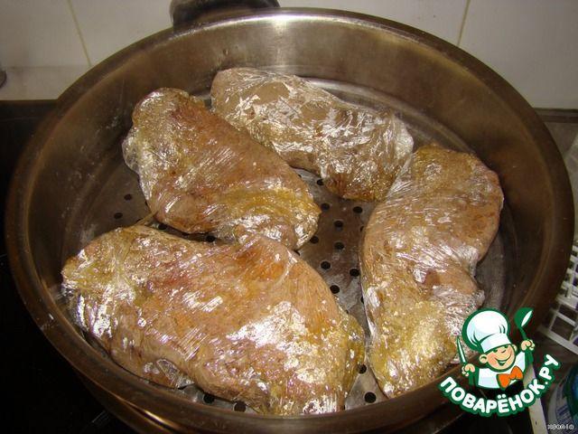 Телячья печень на пару под кисло-сладким соусом ингредиенты