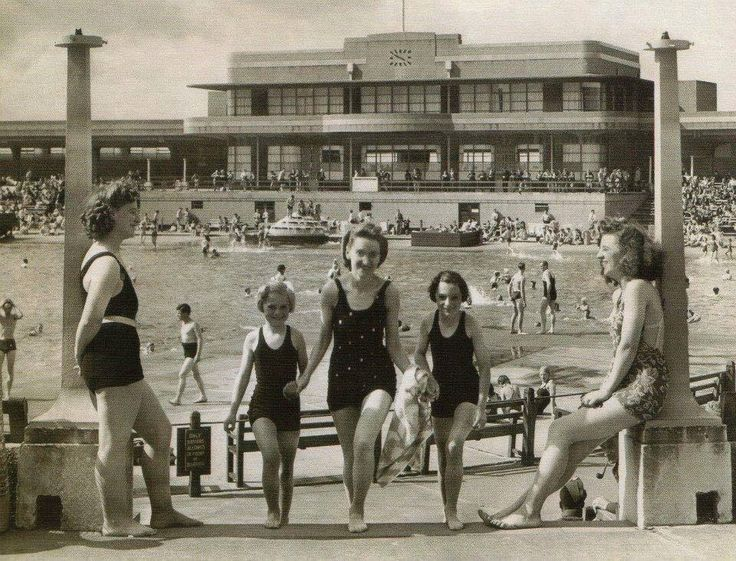 New Brighton outdoor swimming baths . One of over a dozen on the Wirral