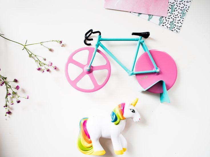 Roze cadeautips #bike #pizzacutter #unicorn #gift #kado #cadeau #geschenk #fiets #eenhoorn