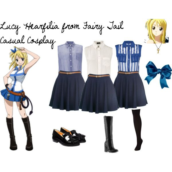 http://www.polyvore.com/lucy_hearfilia_from_fairy_tail/set?id=49363677 Lucy Hearfilia from Fairy Tail Casual Cosplay