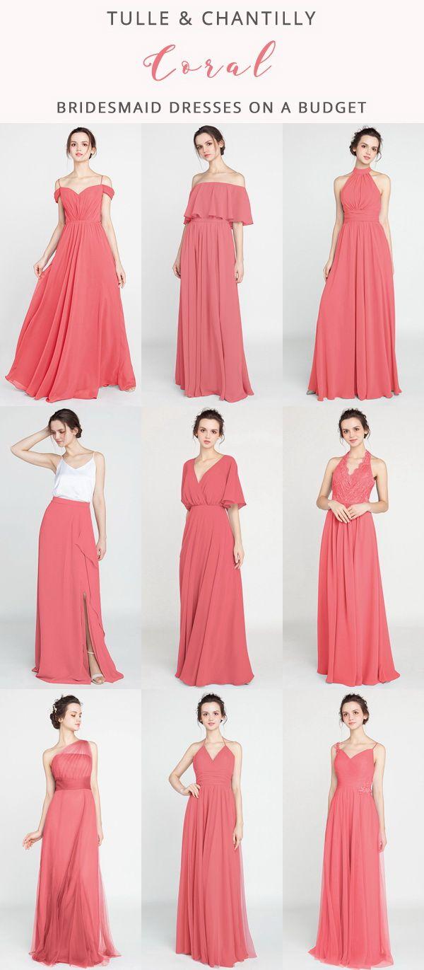 Long Short Bridesmaid Dresses 79 149 Size 0 30 And 50 Colors Coral Bridesmaid Dresses Mismatched Coral Bridesmaid Dresses Elegant Bridesmaid Dresses