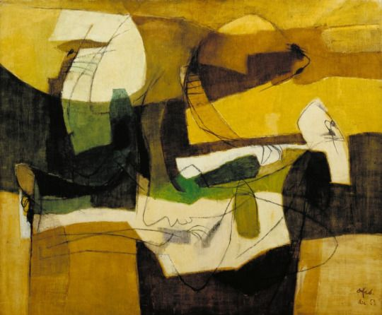 Afro Basaldella (Italian, 1912-1976) - The Yellow Book, 1952