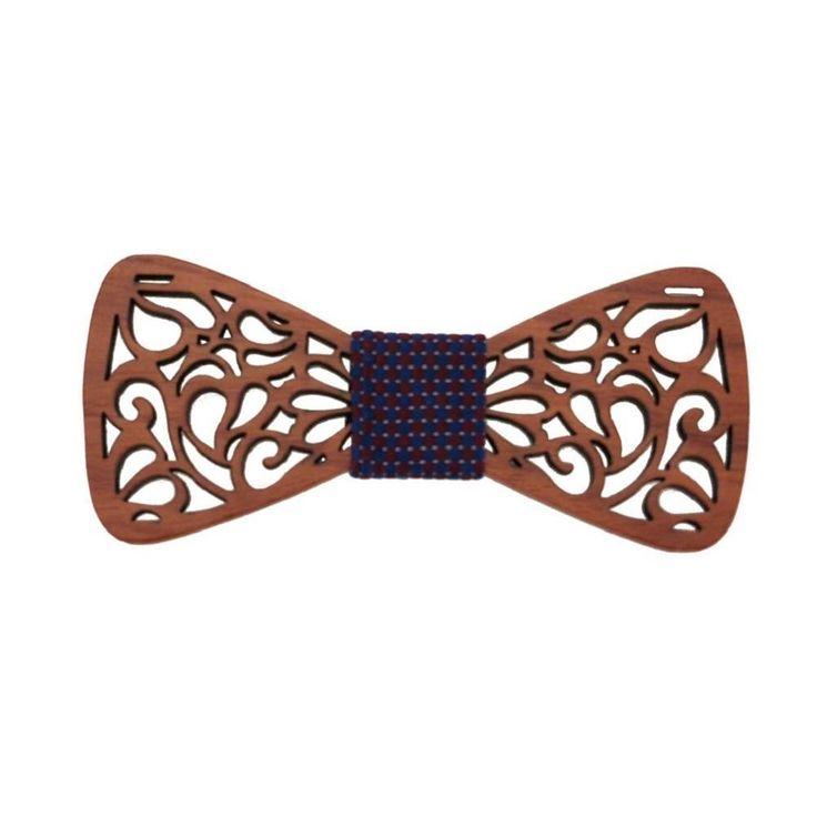 Mantieqingway Classic Hollow Wood Bow Ties for Mens Wedding Suits Wooden Bow Tie Butterfly Shape Bowknots Gravatas Slim Cravat