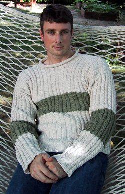 Free Knitting Pattern - Men's Sweaters: Anniversary Sweater
