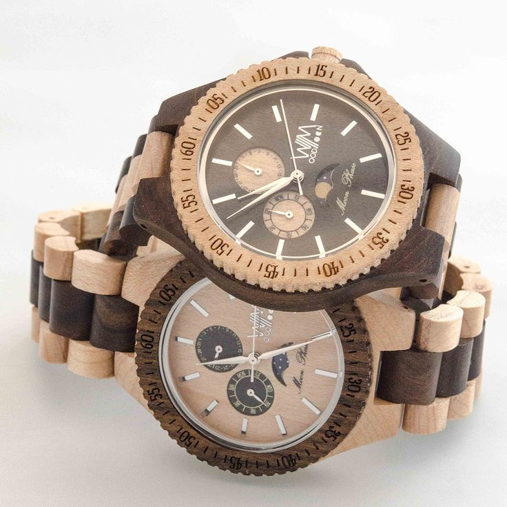 apogeo e ipogeo orologi in legno - Mens WoodMoon Watches - Watch made of wood.