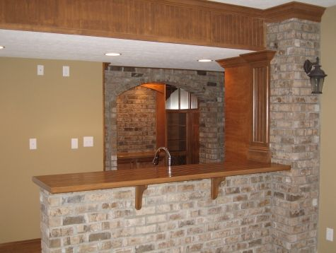 Luxury home noblesville family room custom built wet bar for Custom built brick homes