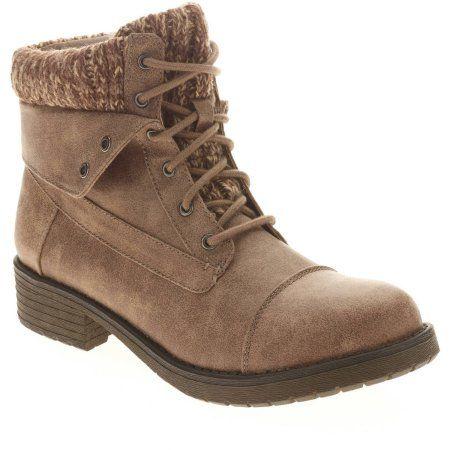 Faded Glory Women's Heel Boot, Size: 6, Gray