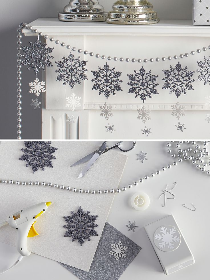 How-to: Make a magical snowflake garland. It can transform a room from blah to beautiful.