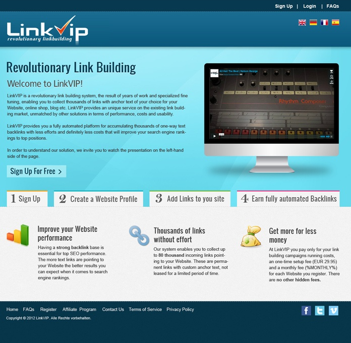 #Website #Redesign for Link VIP