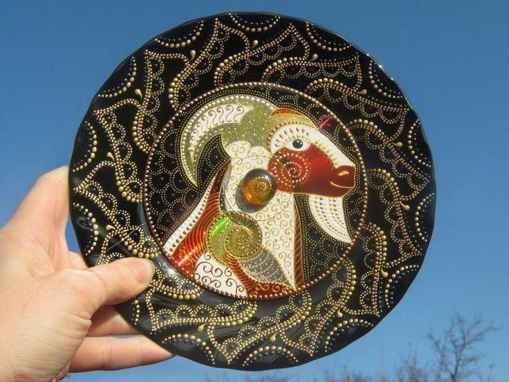 Новинка! Декоративные тарелочки с витражной росписью на диске. - Ярмарка Мастеров - ручная работа, handmade