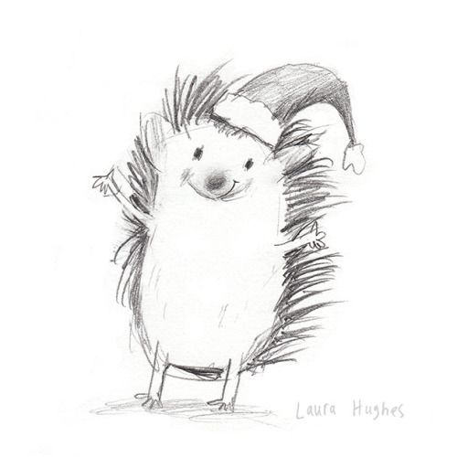 Today I've been sketching Xmassy Hedgehogs