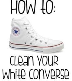 Clean White Converse (Canvas) Shoes