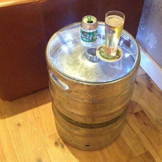 Upcycled silver beer keg table, by ReUpCycled #beerkeg