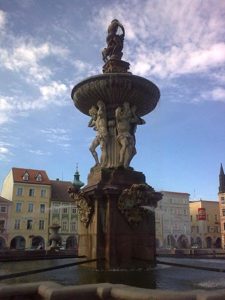 Samson's Fountain - Ceske Budejovice, Czech Republic
