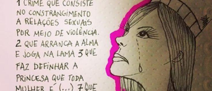 Internauras fazem campanha contra o estupro nas redes sociais