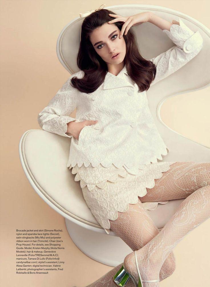Kristen Murphy by Nelson Simoneau for Elle Canada March 2015 - Simone Rocha