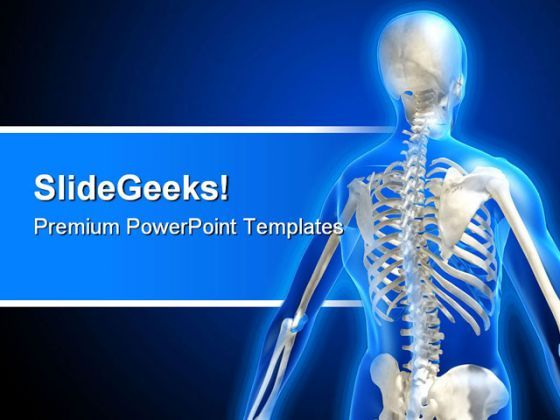 Skeleton Medical PowerPoint Template 0610