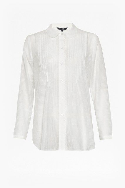 Dotty Sheer Scalloped Edging Shirt   New Arrivals   French Connection