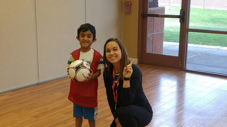 Coach Kelli with Shaan on Ribbon Ceremony Day! What an awesome soccer class. www.sportball.us