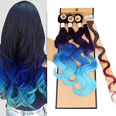synthetic+body+wave+bundles+brazilian+body+wave+weaving+cheap+body+waving+beautiful+color+3pieces+body+wave+1piece+clip+hair+1piece+closure+–+USD+$+24.59