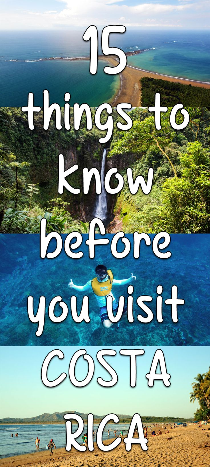 Visiting Costa Rica? Here are 15 things to know before you visit to help plan your trip: http://mytanfeet.com/costa-rica-travel-tips/15-things-to-know-about-costa-rica/