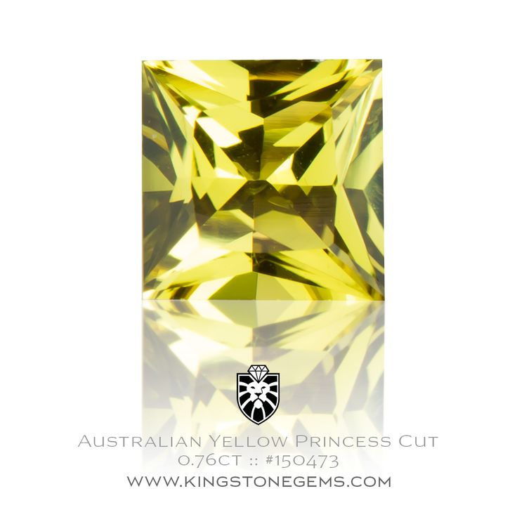 Australian Yellow Sapphire 0.76ct - 5.30X5.35X2.92mm - SKU# 150473 - Looking for beautiful sapphires? Then come and inspect our large range of gemstones.