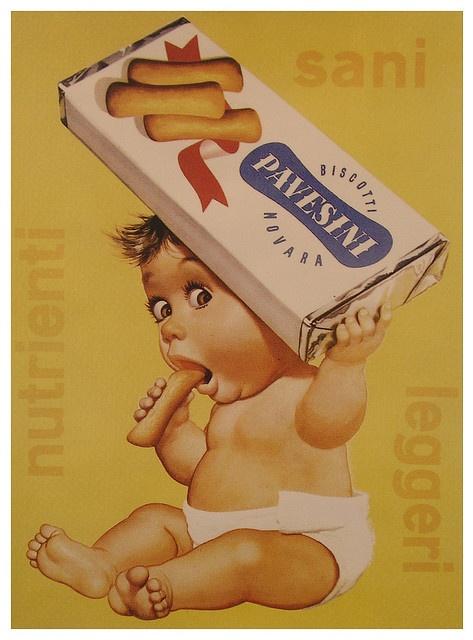 Vintage Italian Posters ~  #Italian #posters ~ Biscotti Pavesini