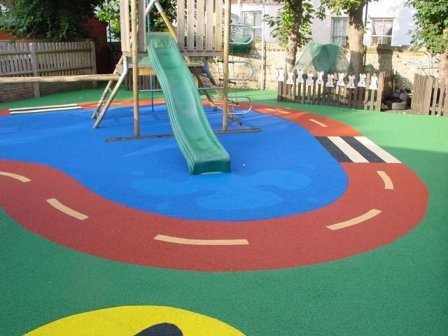 25 best ideas about playground flooring on pinterest for Kindergarten playground design