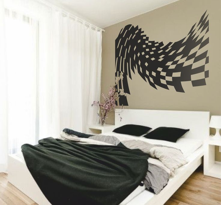 Vinilo decorativo de un cabecero de cama perspectiva - Vinilo decorativo ikea ...