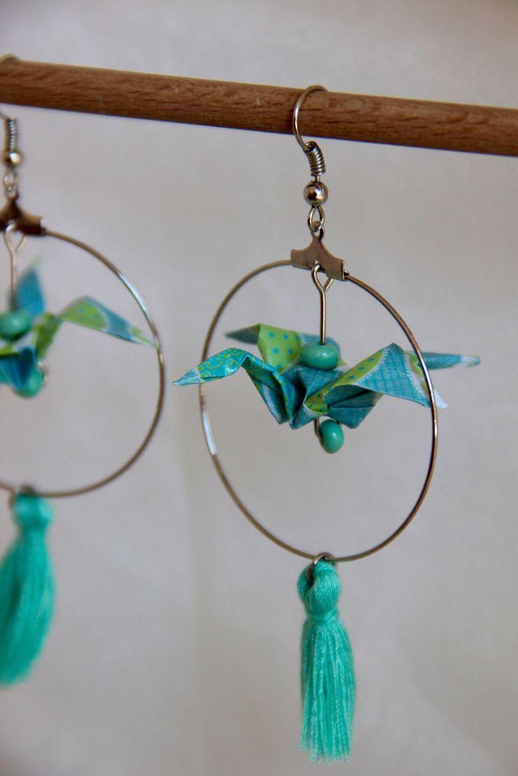 Boucles d'oreilles Origami // Vanille et Vega