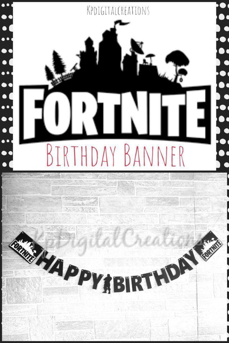 Fortnite Birthday Banner Fortnite Party Fortnite Birthday