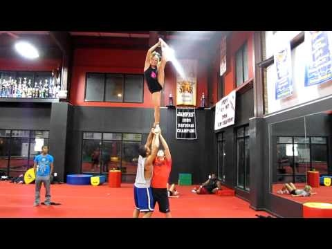 Cool cheer stunt ❤
