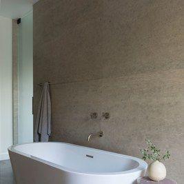 neutral bathroom with soaking tub