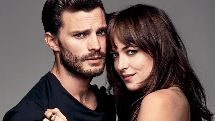 ••Fifty Shades of Grey•• movie stars: Irish Jamie Dornan (b. 1982May1) (2013 BBC series The Fall w/ Gillian Anderson) + US' Dakota Johnson (daughter of Don Johnson + Melanie Griffith; b. 1989Oct4) • novel: E.L. James / screenplay: Kelly Marcel • dir. Brit. Sam Taylor-Johnson (maiden: Samantha Louise Taylor-Wood) • not that film will do justice to novel, esp. w/ unsultry Johnson • imdb: www.imdb.com/title/tt2322441/?ref_=nv_sr_1 • novel: http://en.wikipedia.org/wiki/Fifty_Shades_of_Grey