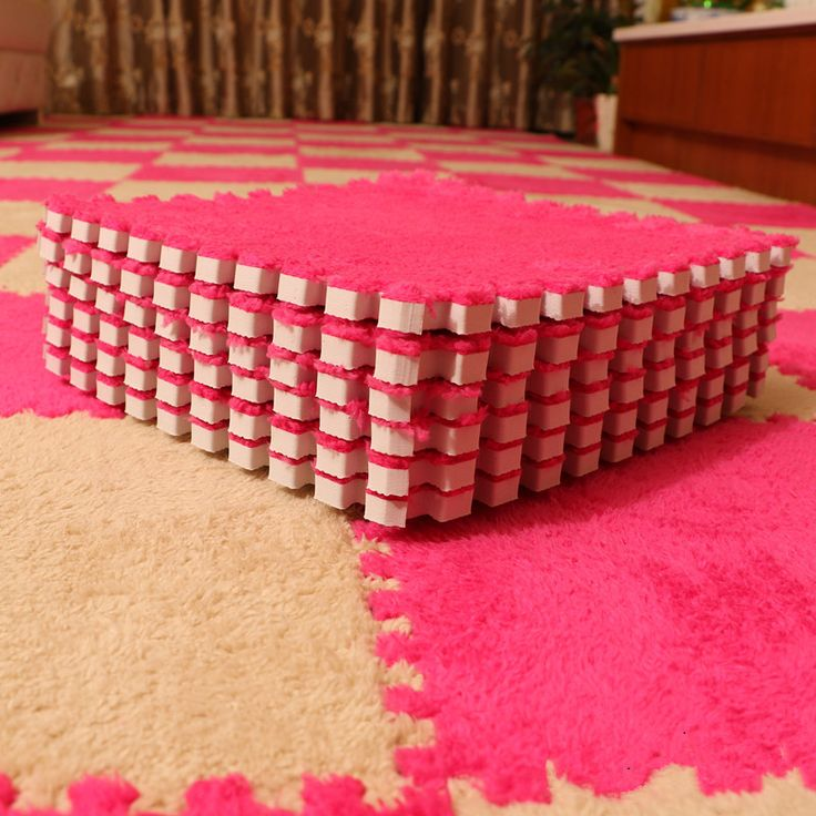 2 Pcs DIY Fashion Bedroom carpet mosaic puzzle mats plush foam mats tatami mat children room wool carpet