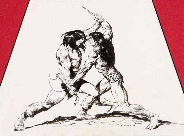 Conan versus Tarzan by John Buscema: Conan Versus, Buscema Artworks, Artists Showca, Comic Art, Artists John, Versus Tarzan, Awesome Art, Buscema John 1927 2002, John Buscema