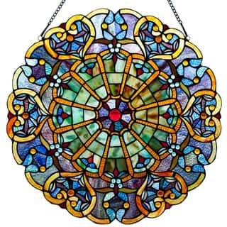 Stained Glass Webbed Heart 27-inch Window Panel - M