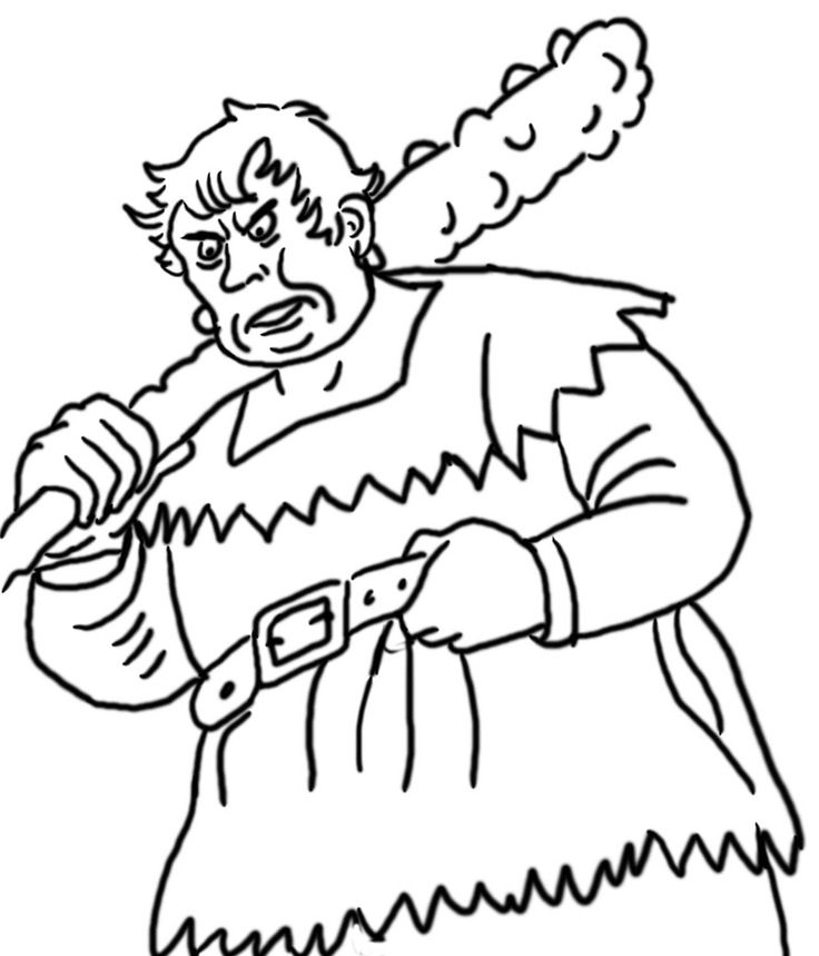 cartoon giant coloring pages - photo#4