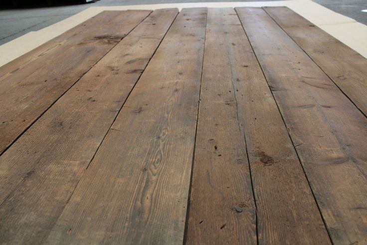 Antique Reclaimed French Pine Floorboards