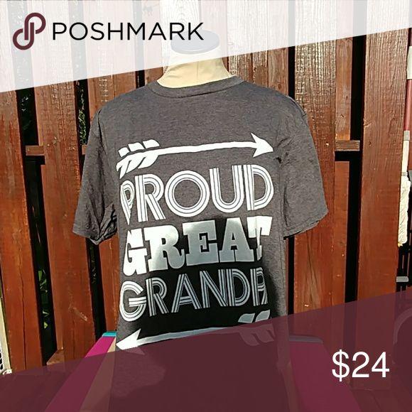 Proud great grandpa mens lg LG anvil Shirts Tees - Short Sleeve