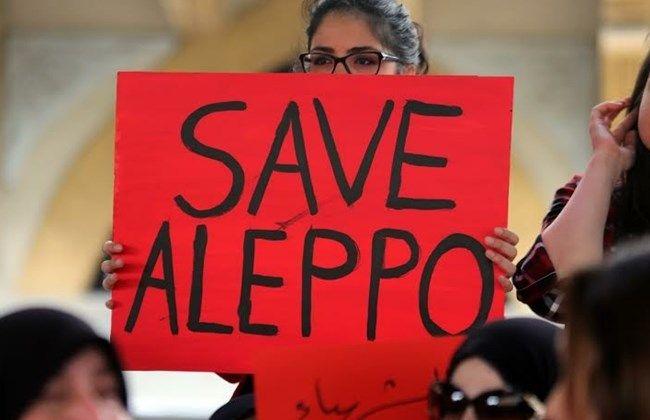 Demonstração de solidariedade ao povo sírio no centro de Beirut