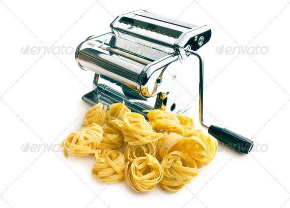 Tagliatelle pasta machine. http://photodune.net/item/tagliatelle-pasta-machine/8243386