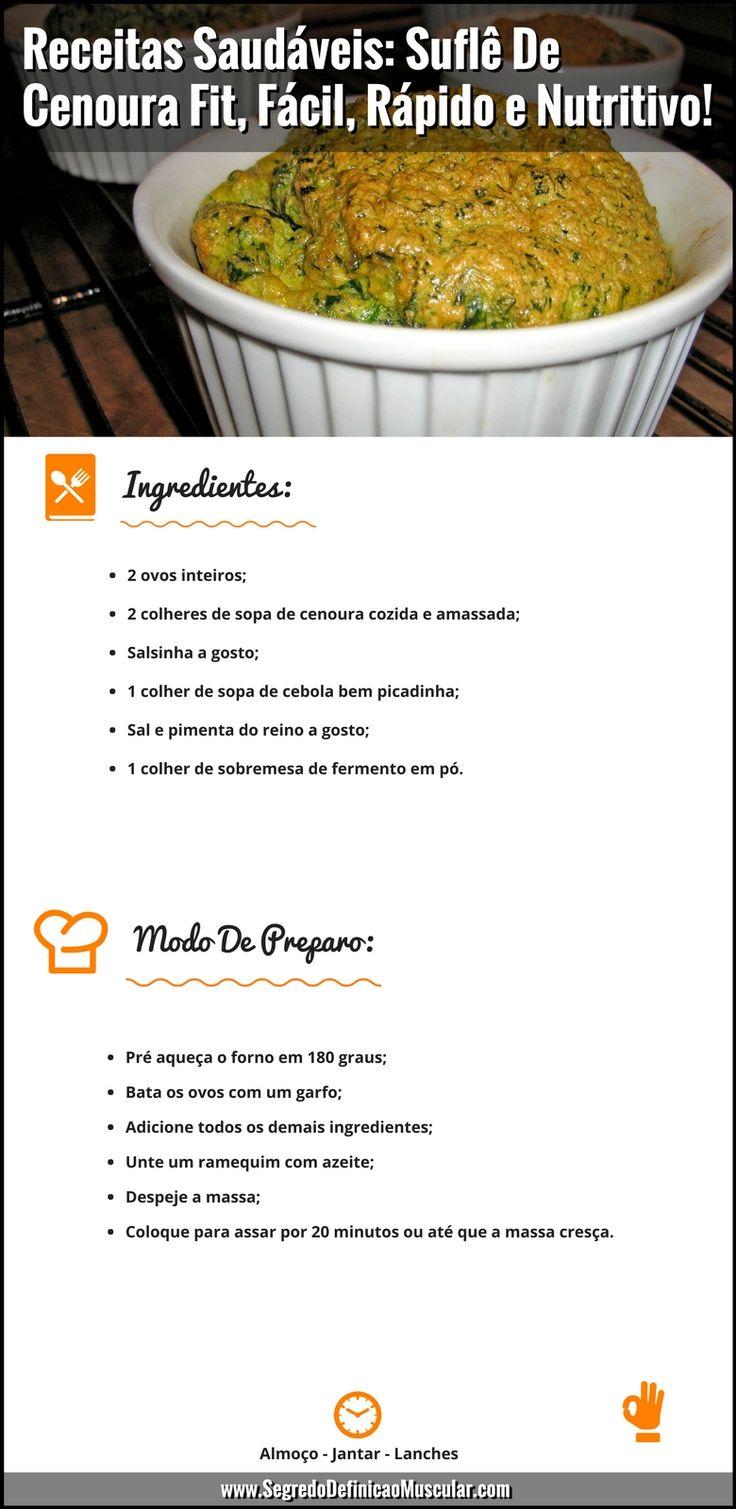 Receitas Saudáveis Suflê De Cenoura Fit e Sufle De Cenoura Liquidificador