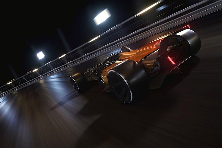 Futuristic Formula 1 Concept Poses Next To 2018 Renault Megane RS At IAA 2017 - autoevolution