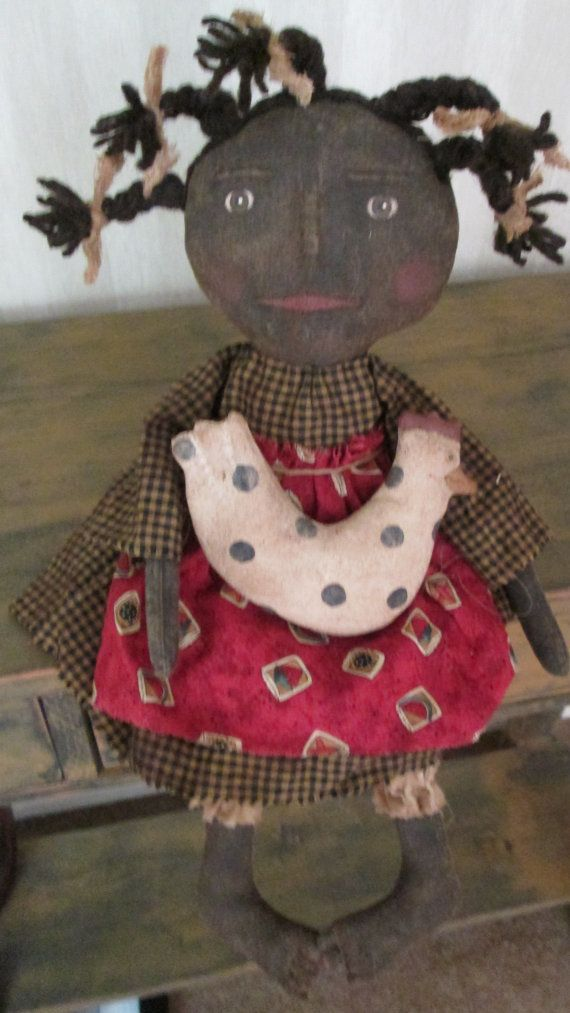 Black Doll with Chicken by Bettesbabies on Etsy, $46.00