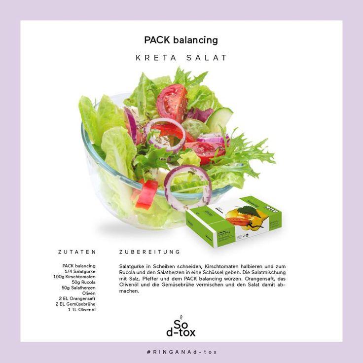 L'insalata di Creta sa d'estate e con l'aggiunta del PACK balancing mette in moto l'equilibrio acido-base. #RINGANAdtox