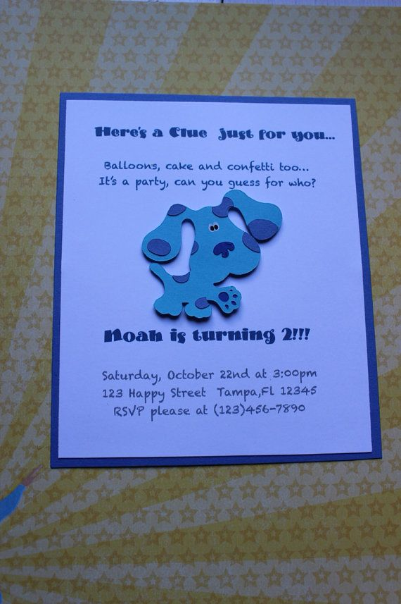 blues clues party invitations on etsy   13 50