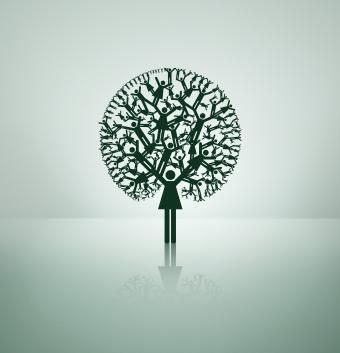 "Amazing design depicting a family ""tree."""