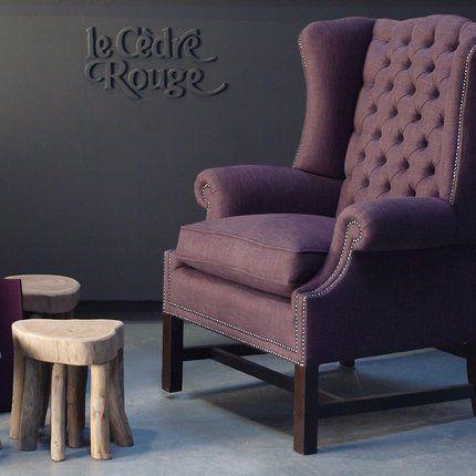 1000 id es propos de fauteuil capitonn sur pinterest chaises rembourr e - Fauteuil capitonne rouge ...