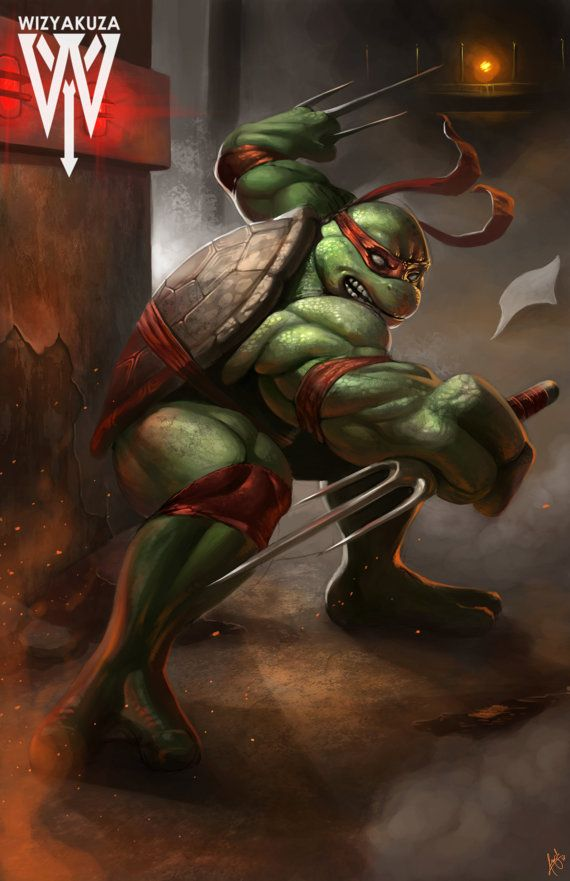 Raphael (Raph) - Teenage Mutant Ninja Turtles - 11 x 17 impresión Digital